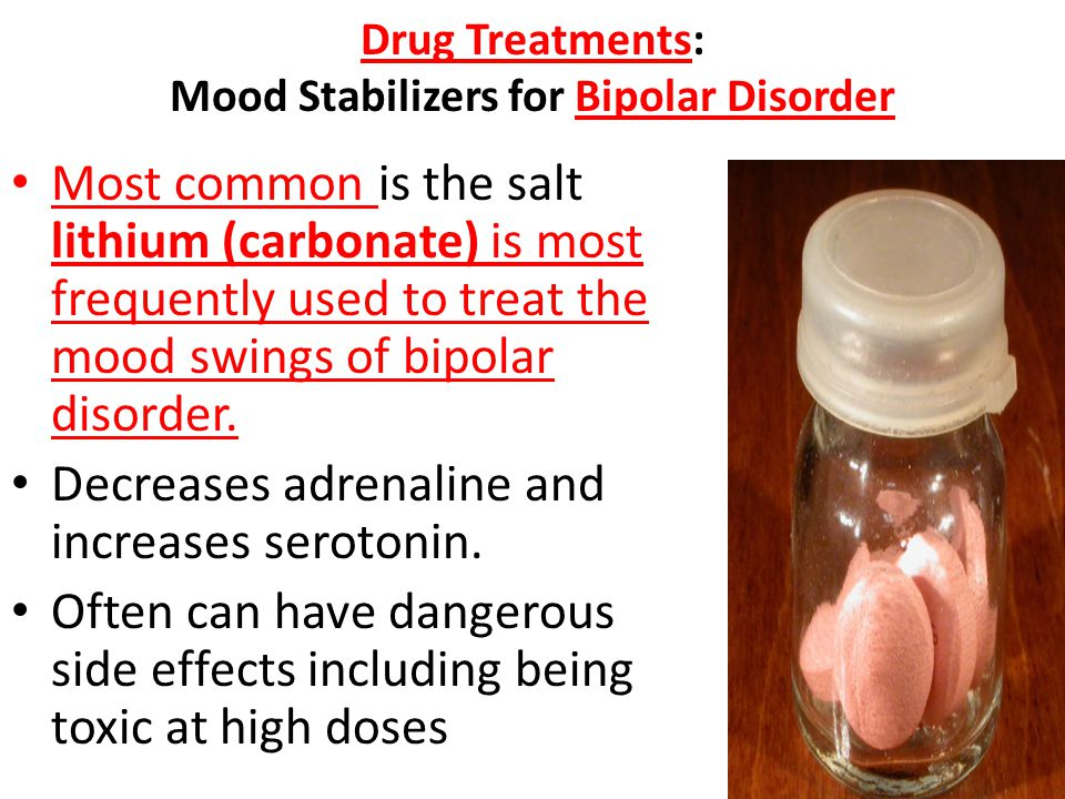 Drug Treatments: Mood Stabilizers for Bipolar Disorder