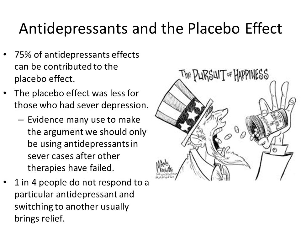 Antidepressants and the Placebo Effect