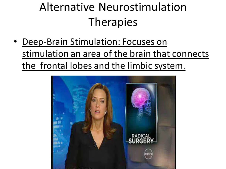 Alternative Neurostimulation Therapies