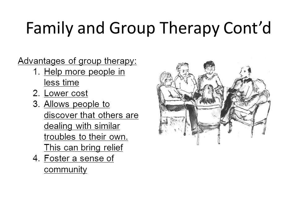 Family and Group Therapy Cont'd