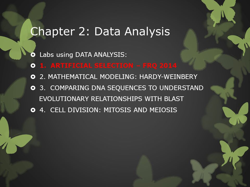 Chapter 2: Data Analysis