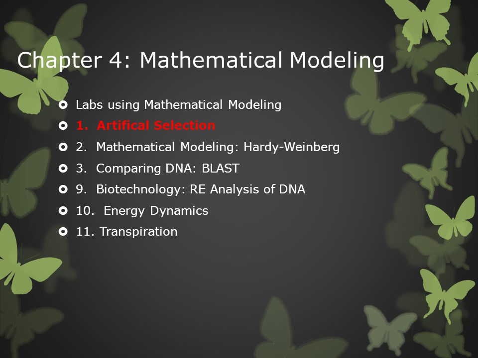 Chapter 4: Mathematical Modeling