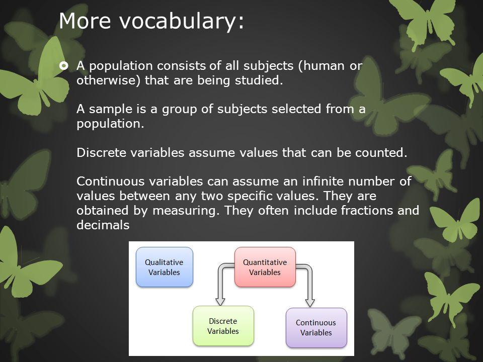 More vocabulary: