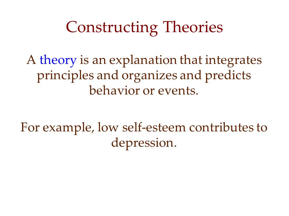 Constructing Theories