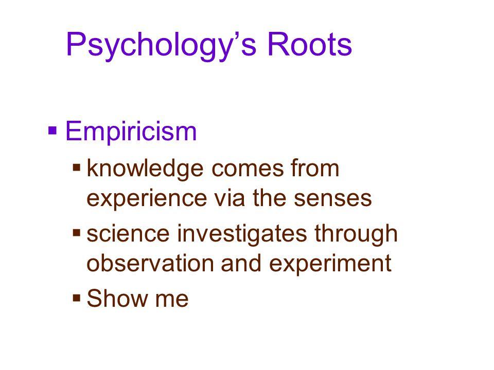 Psychology's Roots Empiricism