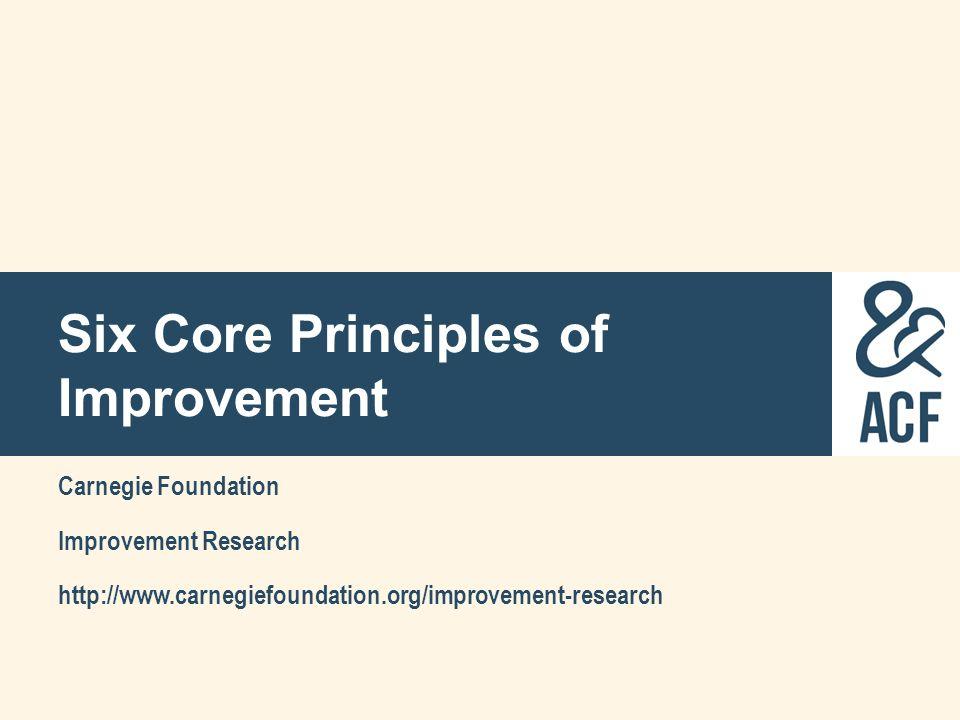 Six Core Principles of Improvement