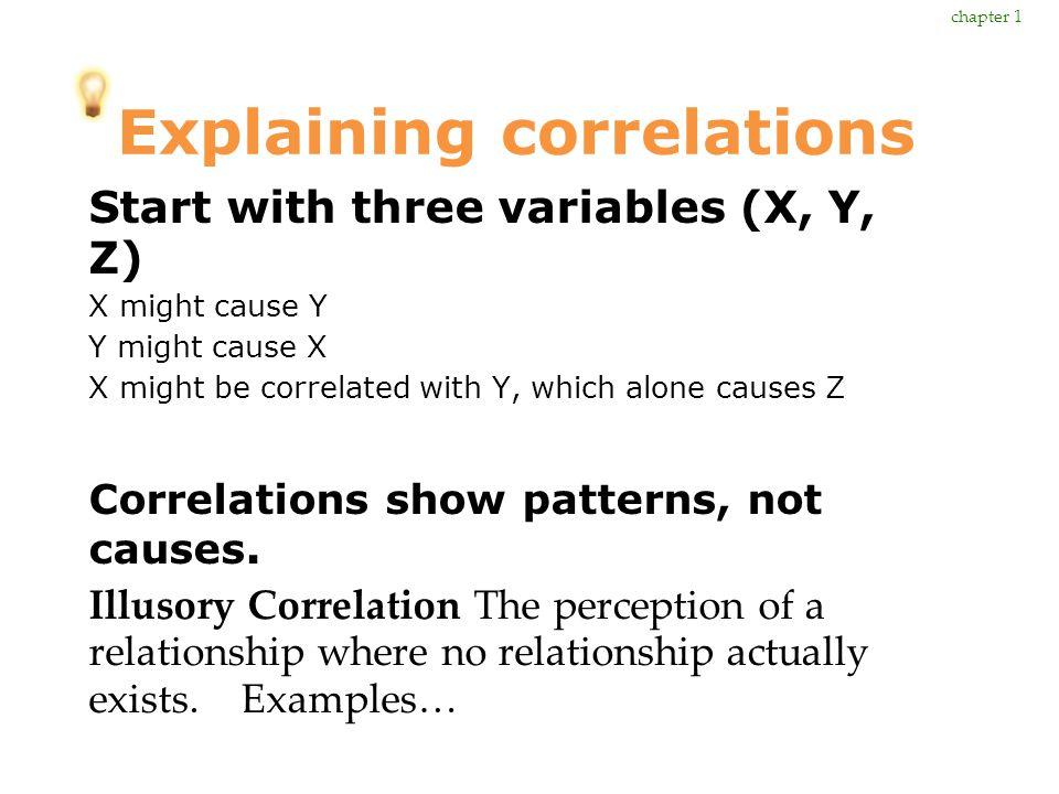 Explaining correlations