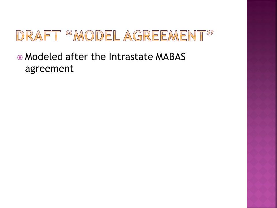 Draft Model Agreement