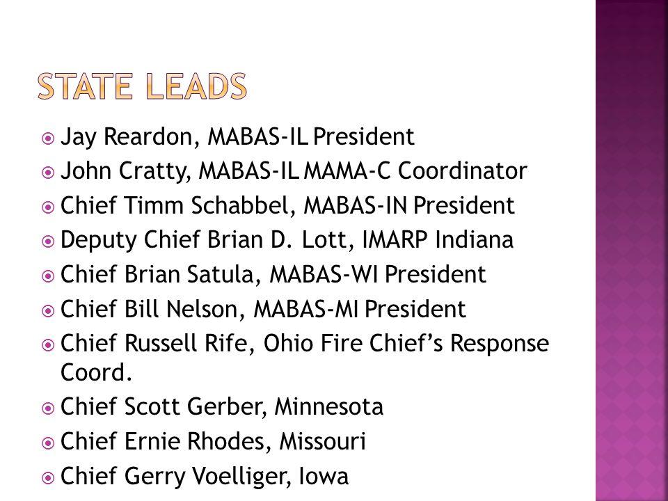State Leads Jay Reardon, MABAS-IL President