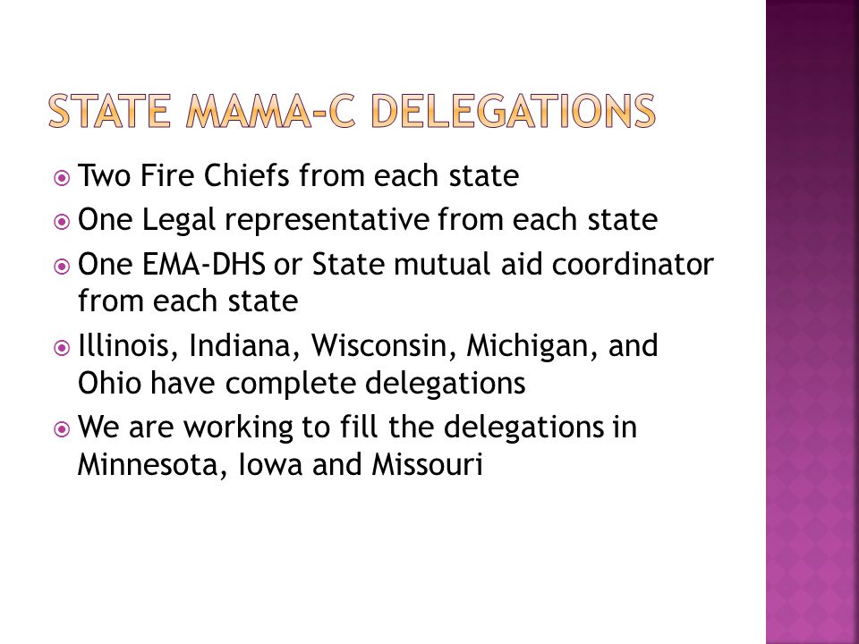 State MAMA-C Delegations