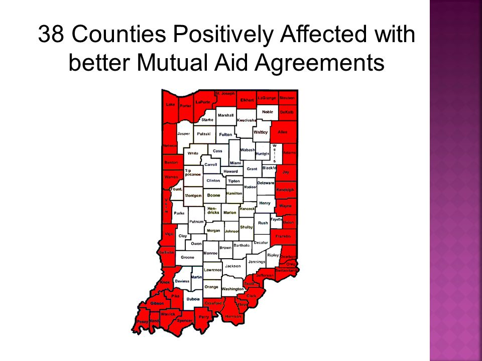 38 Counties Positively Affected with better Mutual Aid Agreements