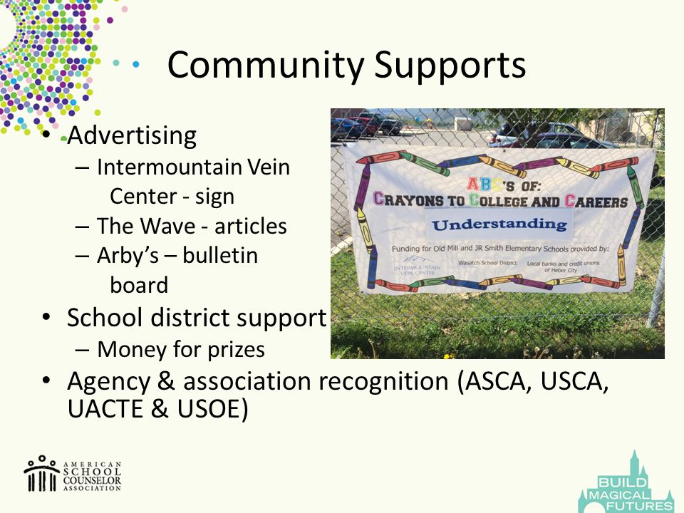 Community Supports Advertising School district support