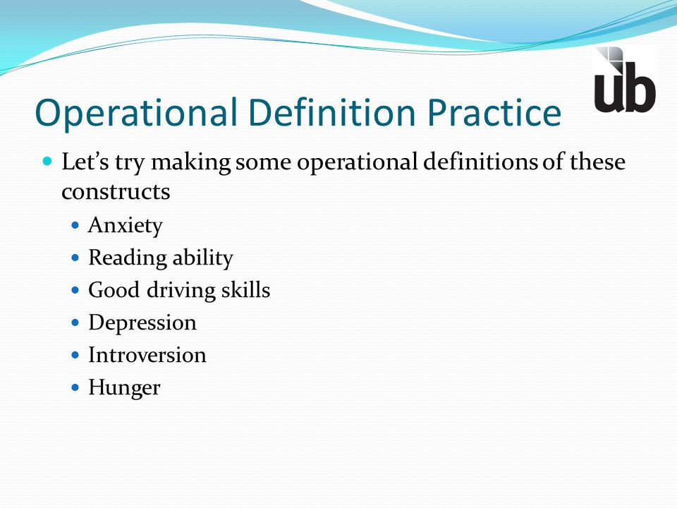 Operational Definition Practice