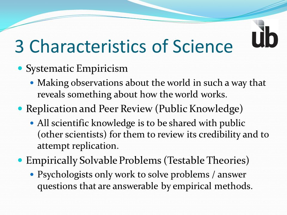 3 Characteristics of Science