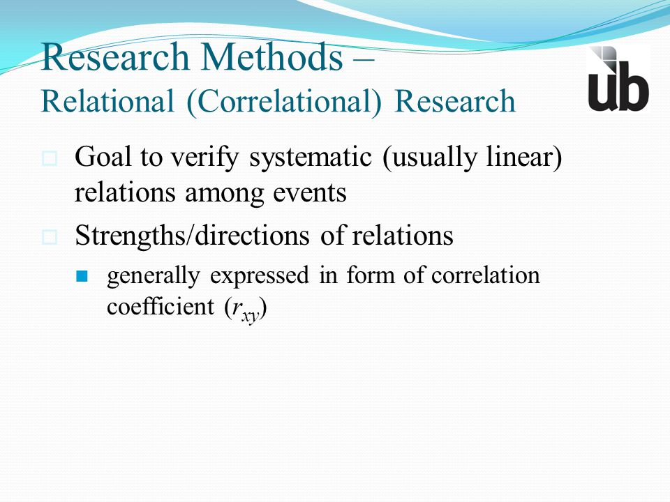 Research Methods – Relational (Correlational) Research