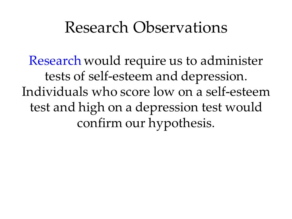 Research Observations