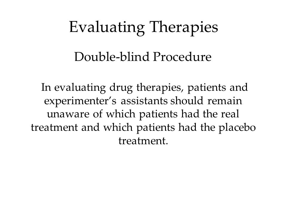 Double-blind Procedure