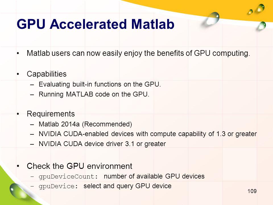 GPU Accelerated Matlab