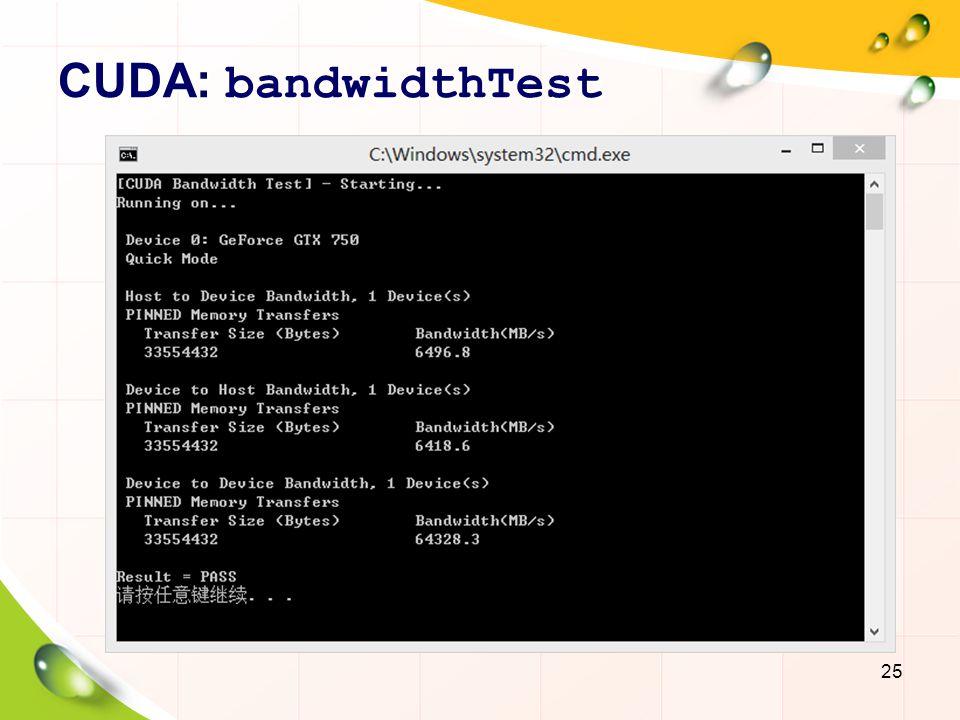 CUDA: bandwidthTest
