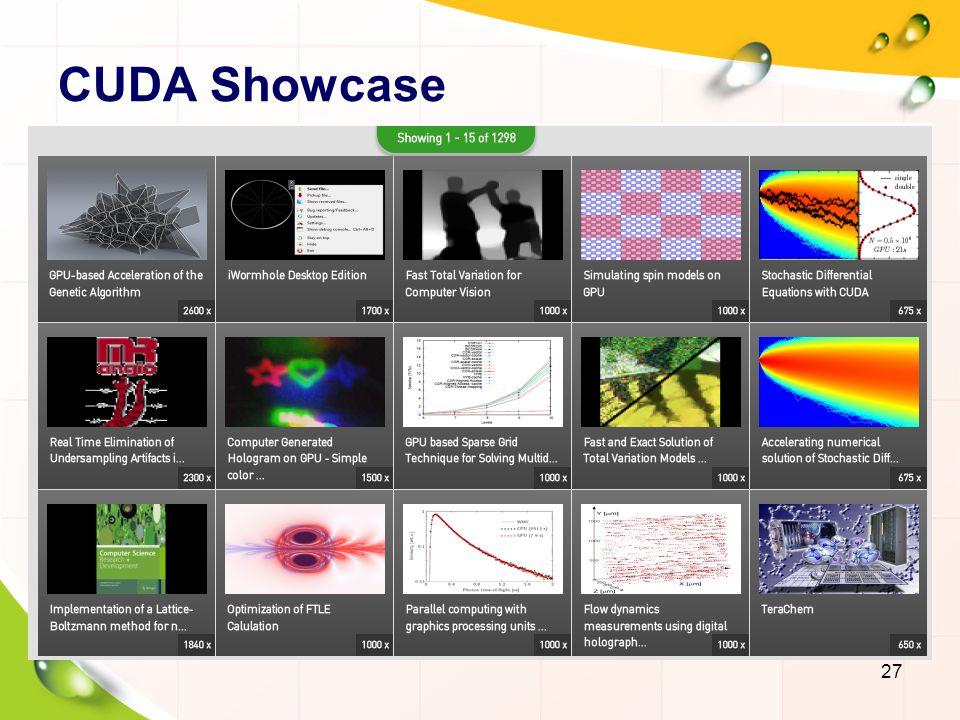CUDA Showcase