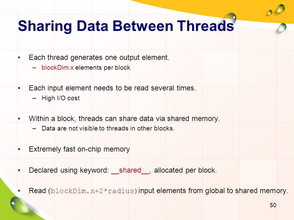 Sharing Data Between Threads