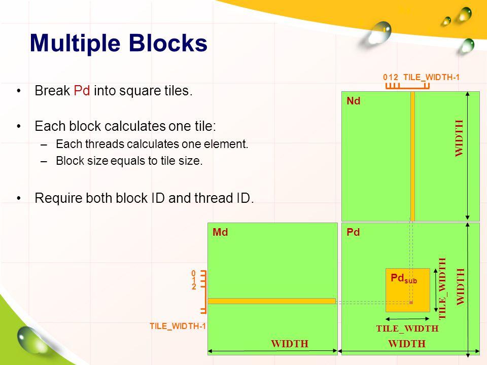 Multiple Blocks Break Pd into square tiles.