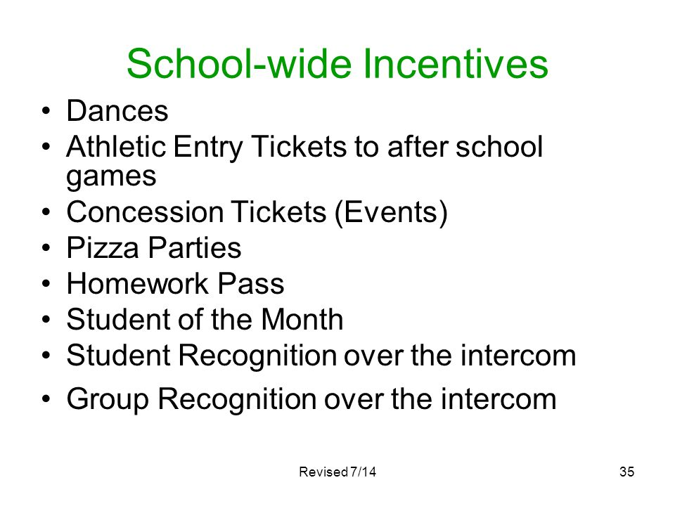 School-wide Incentives