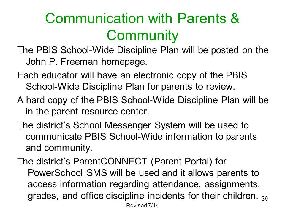 Communication with Parents & Community