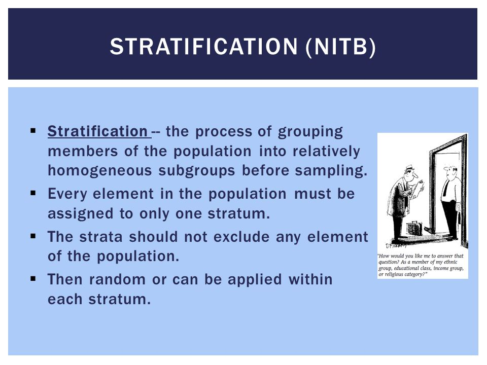 Stratification (NITB)