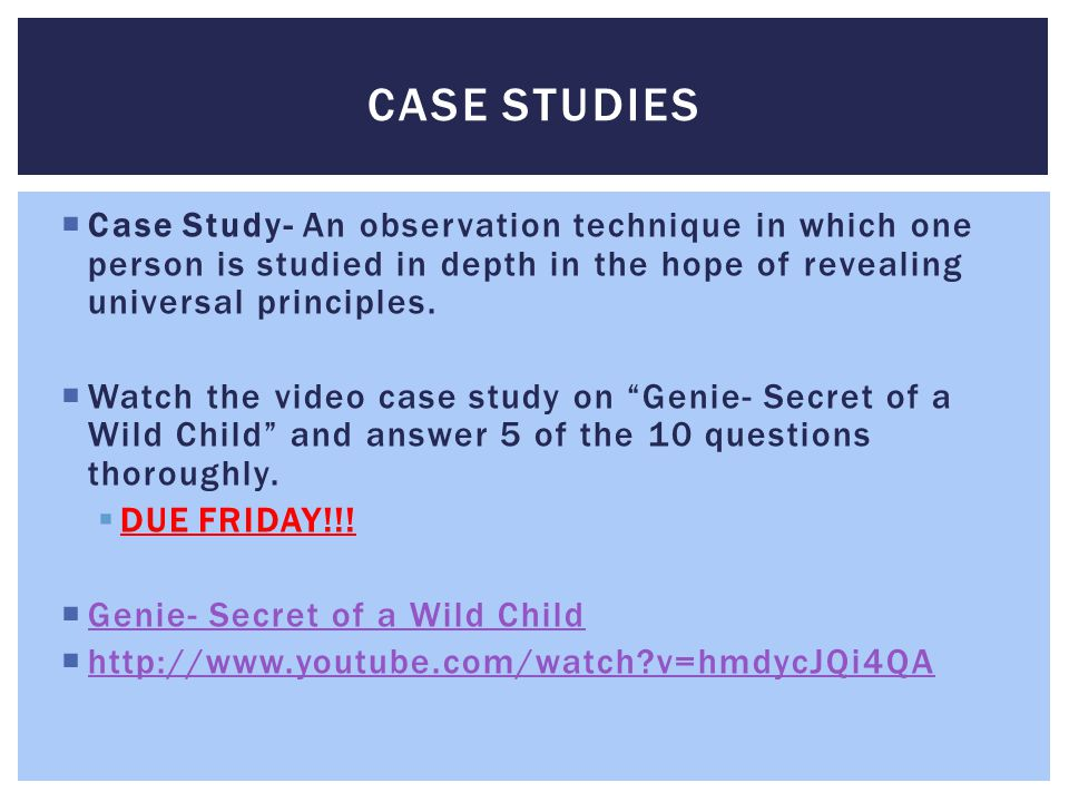 child psych case study Washington, dc: american psychological association case 1 subpoenaed to provide testimony in a child custody case involving a case studies.
