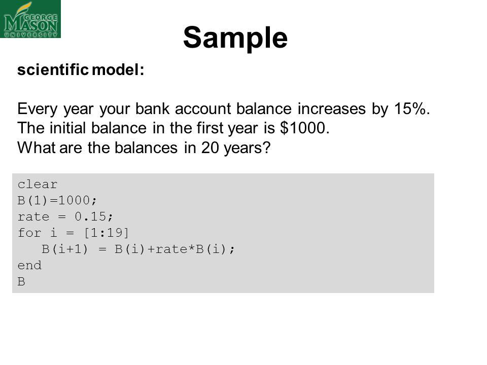 Sample scientific model: