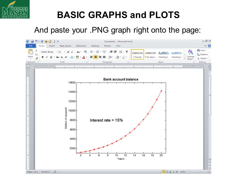 And paste your .PNG graph right onto the page: