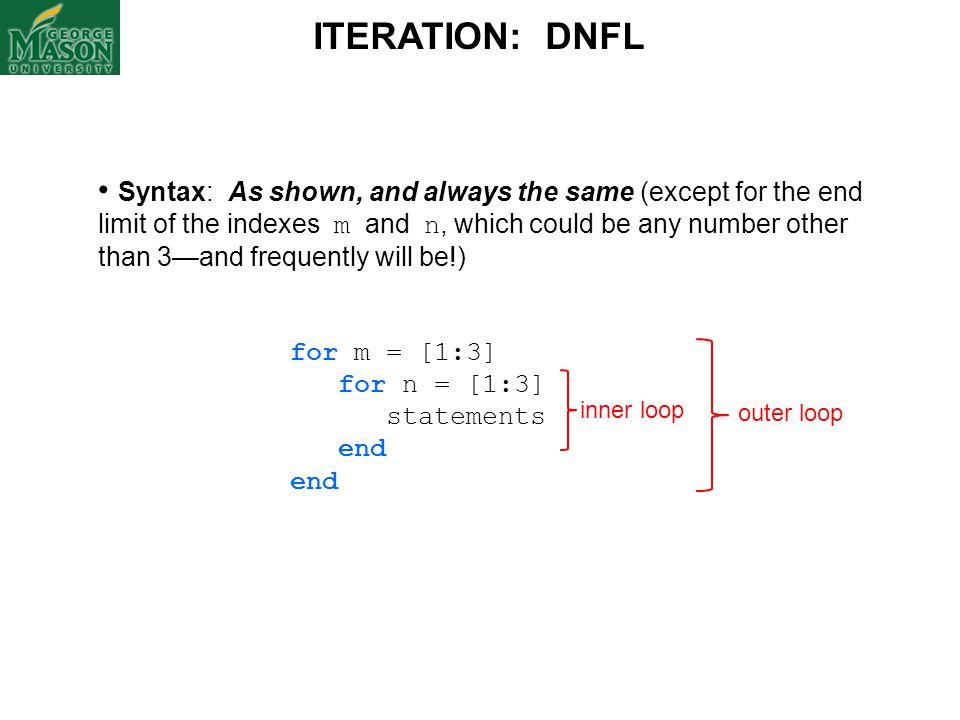 ITERATION: DNFL