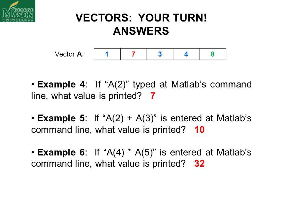 VECTORS: YOUR TURN! ANSWERS