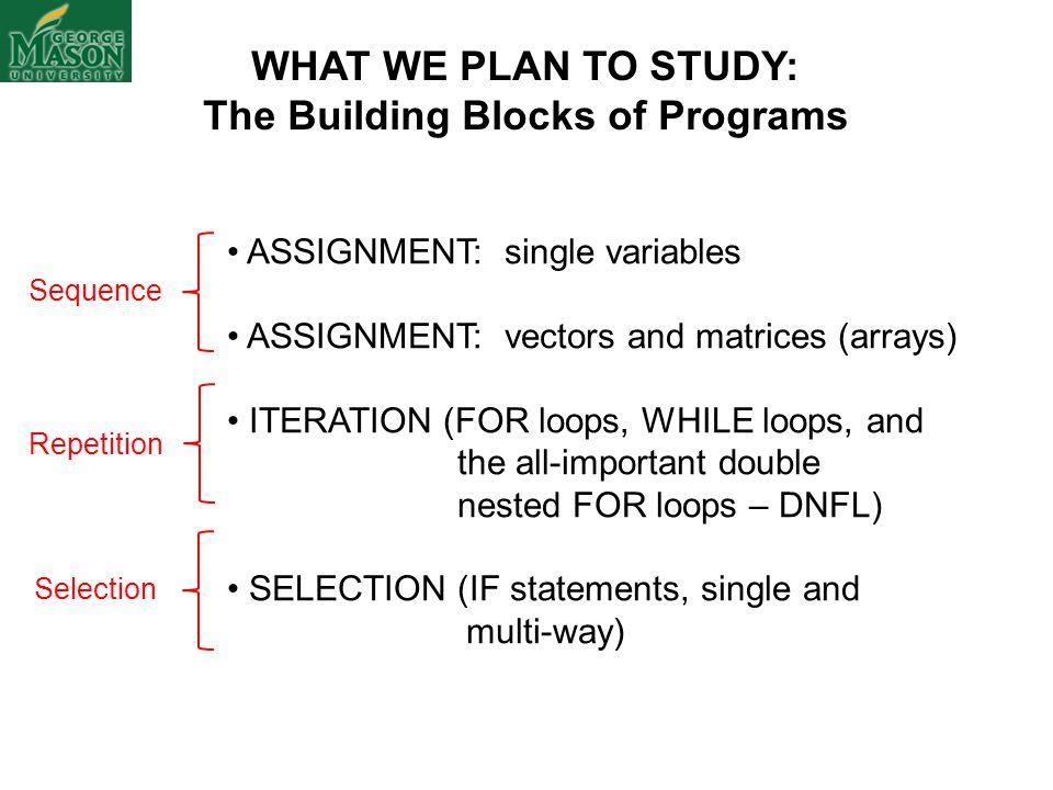 The Building Blocks of Programs