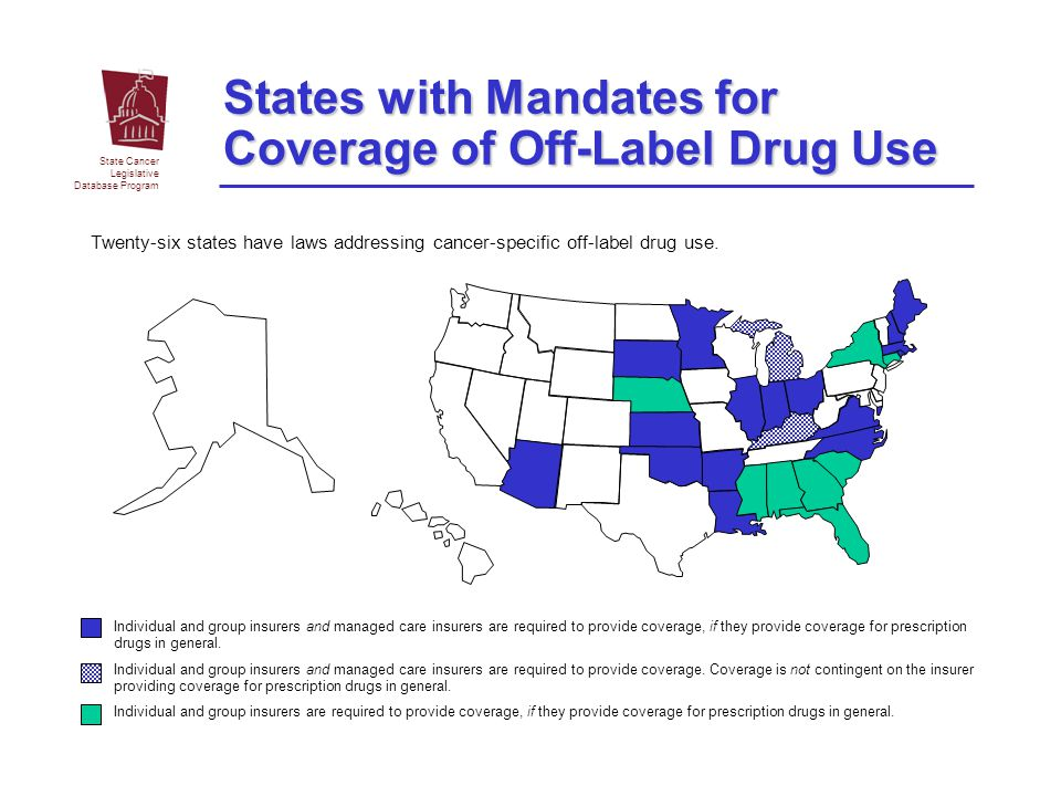 States with Mandates for Coverage of Off-Label Drug Use