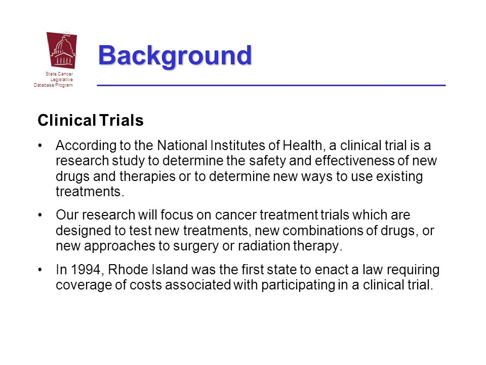 Background Clinical Trials