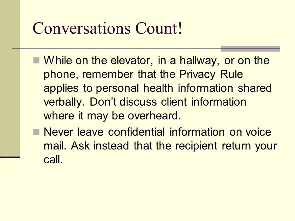 Conversations Count!