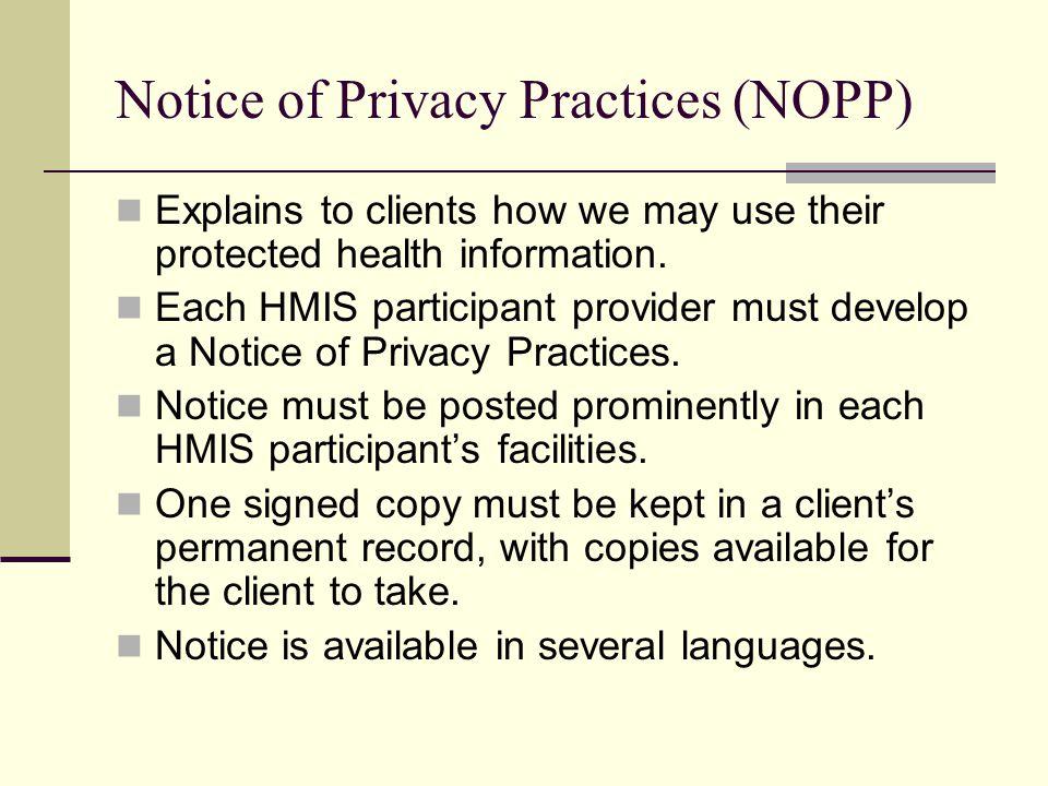 Notice of Privacy Practices (NOPP)