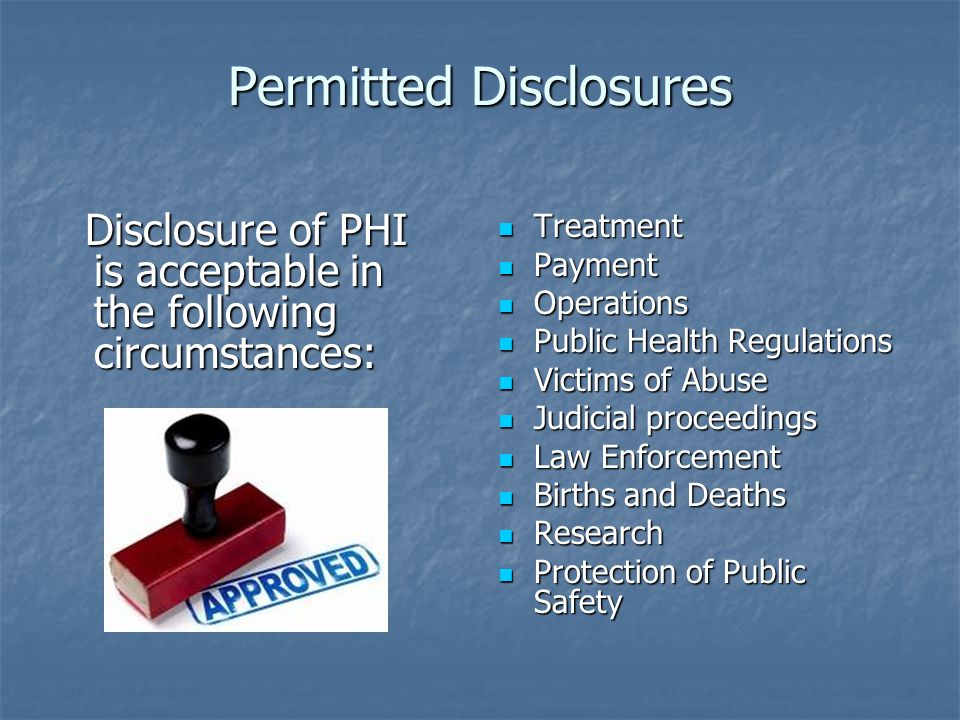 Permitted Disclosures
