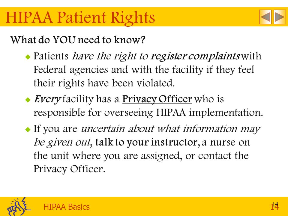 HIPAA Patient Rights What do YOU need to know