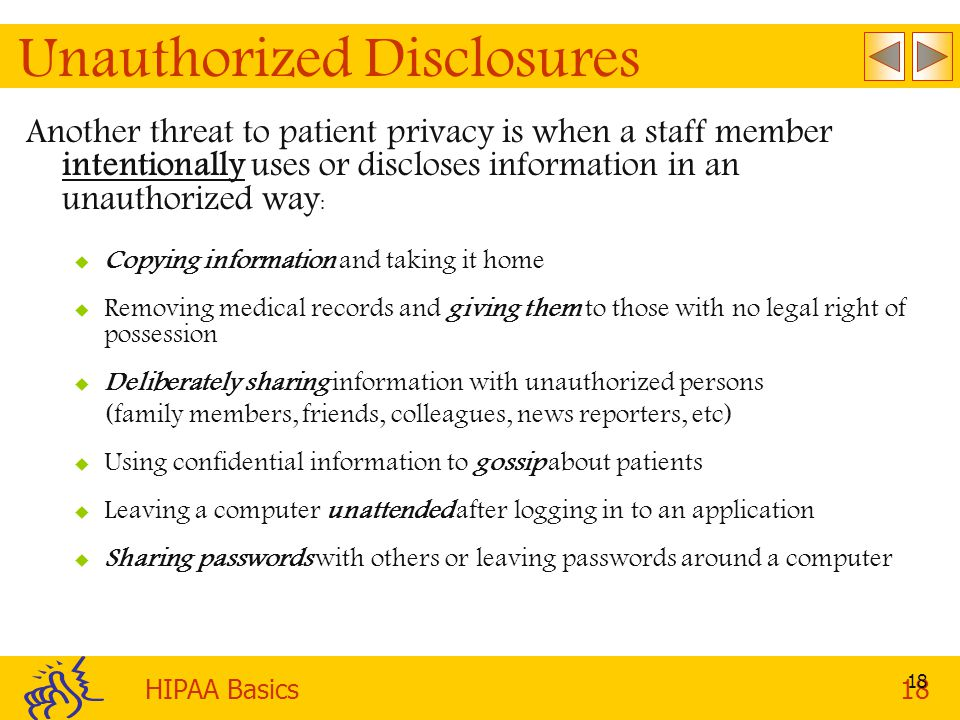 Unauthorized Disclosures