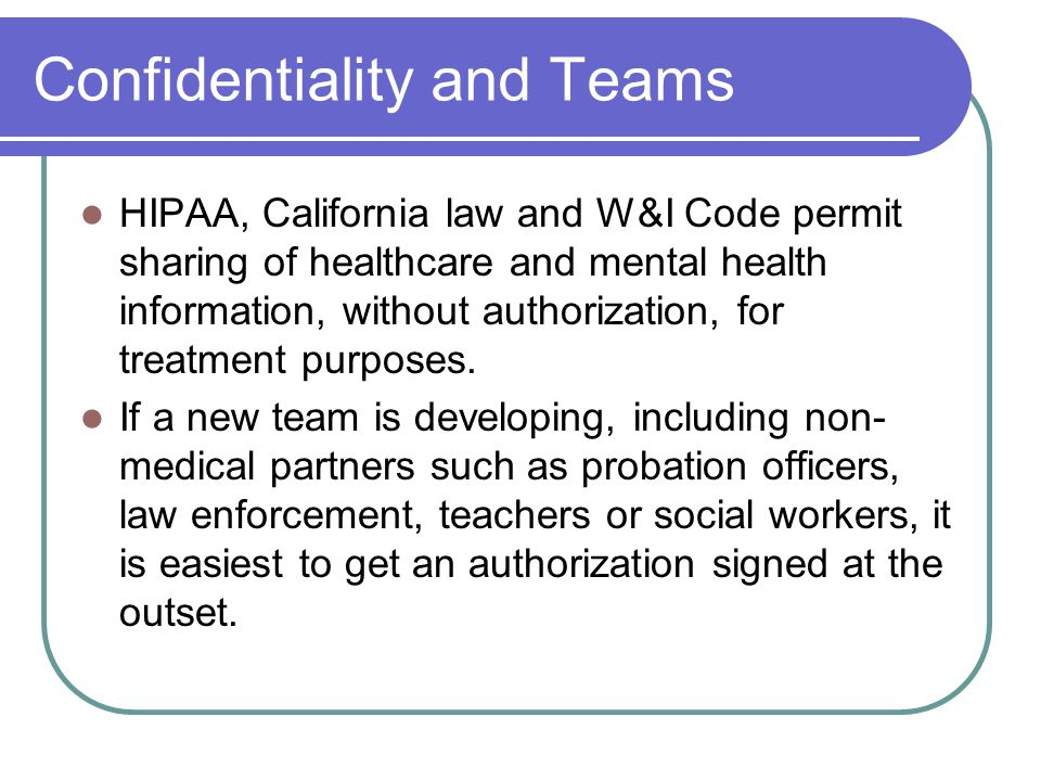 Confidentiality and Teams