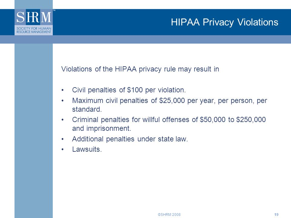 HIPAA Privacy Violations