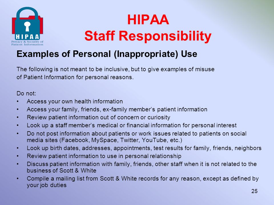 Privacy & Security of Patient Information ppt download