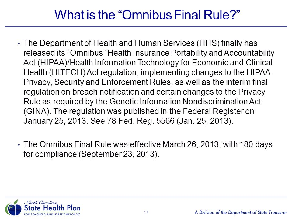 What is the Omnibus Final Rule