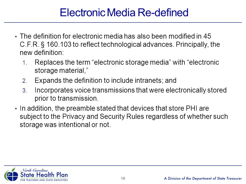 Electronic Media Re-defined