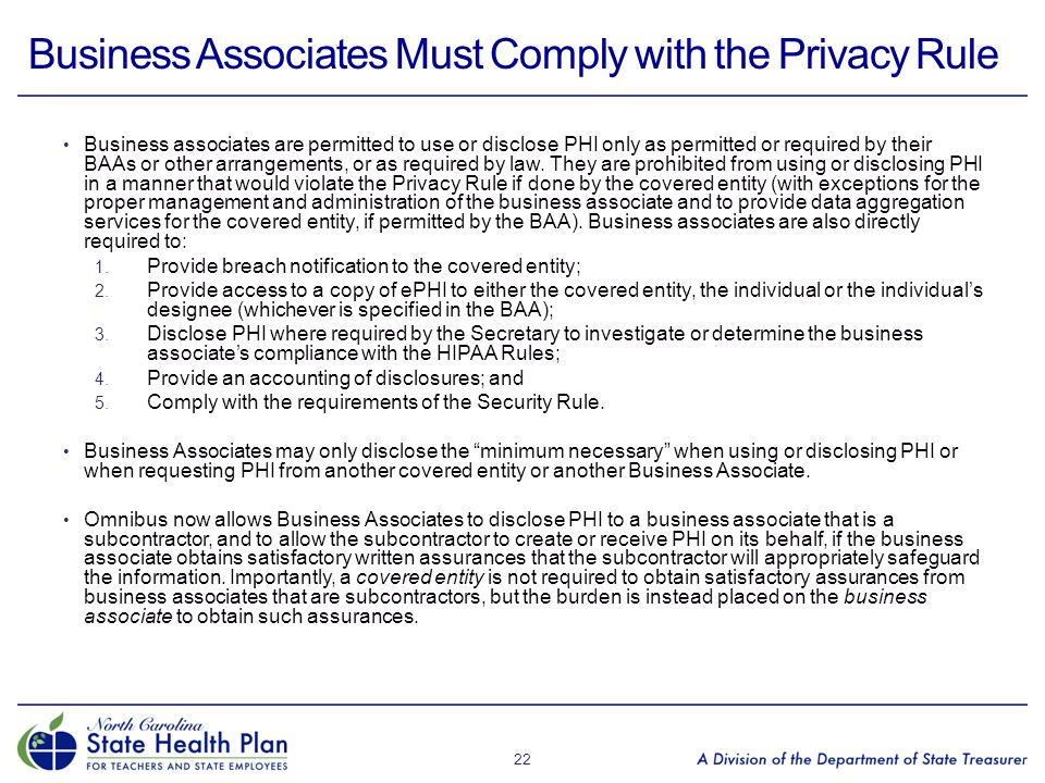 Business Associates Must Comply with the Privacy Rule