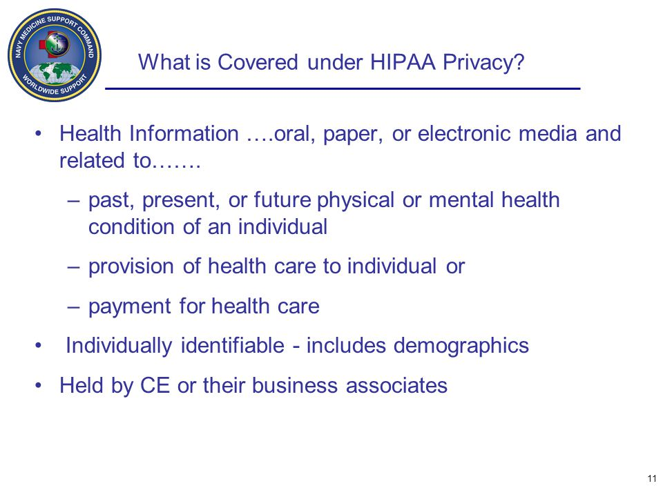What is Covered under HIPAA Privacy