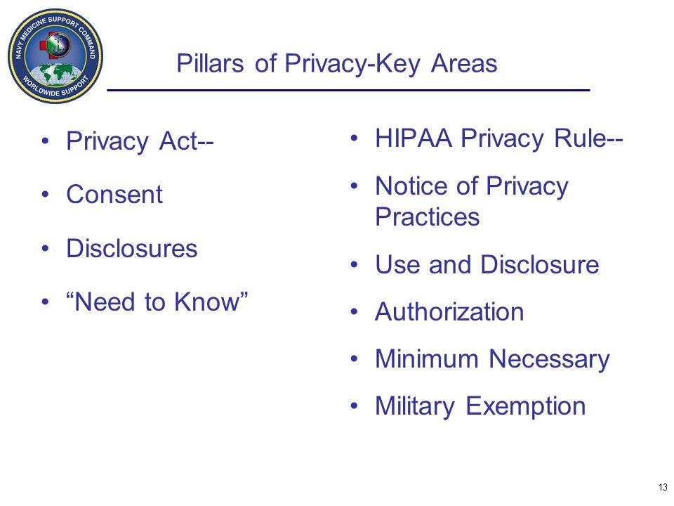 Pillars of Privacy-Key Areas